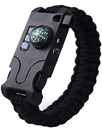 a335c34c8e21 GYFSLG Pulsera Multifunción Portátil De Supervivencia De Siete En Uno  Equipada con Linterna LED Brújula Infrarroja