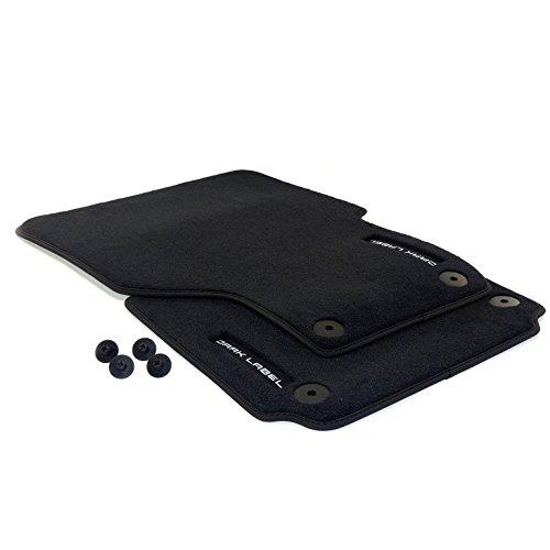Preisvergleich Produktbild Original Fussmatten Premium Edition 'Dark Label' Teppich Belag Automatte Stoff Textil 2-tlg. Set Satz für vorn, Farbe: schwarz
