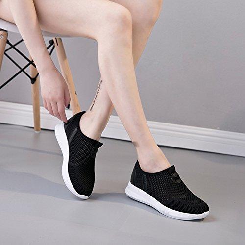 Haipeng Printemps Et Automne Bottines À Fond Plat Courir Running Femmes 2 Couleurs (couleur: Blanc, Dimensions: Eu38 / Uk5.5 / L: 240mm) Noir