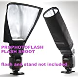 SPE Foldable Spotlighting Cloth Flash Diffuser Bender Light Beam Snoot Softbox Tube for Speedlite Flashe TT560 TT520 TT660 NW680 tt850 TT860 Nikon SB-800, SB-600, SB-80DX, SB28, SB26, SB25, SB24, Canon 580EX, 550EX, 540EZ, 430EX, 420EX, 380EX, 430EZ