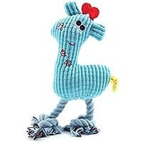 UEETEK Juguetes Mordedor para Perro Mascota Cachorro Sonido de Peluche Juguetes (Jirafa)