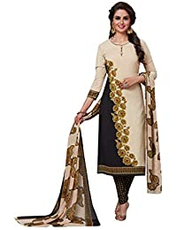 0b0135f8a Fashion Valley Women s Crepe Dress Material Patiyala Style Churidar Unstitched  Suit with Dupatta