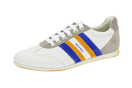 Geox  Geox Andrea Schuhe in weiß Sneakers, Chaussures de ville à lacets pour homme Blanc