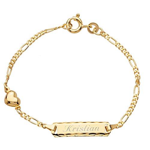 "Schmuck-Pur 333/- Gold Baby-ID-Armband Herz ""Heart"" inkl Gravur"
