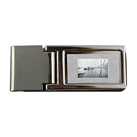 Metal money clip with German ship in Narvik had 1,000