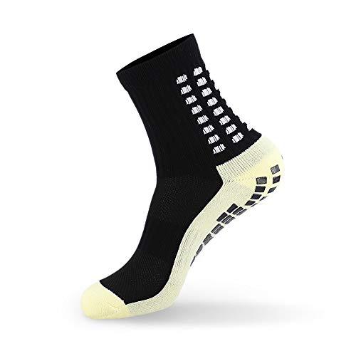 Golo sport - calzini antiscivolo - con pinza e pallini di gomma - migliore aderenza e unisex - taglia unica per tutti gli sport, ospedale e dentro casa (black)