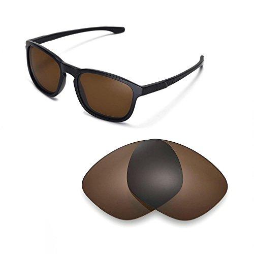 Walleva Ersatzgläser für Oakley Enduro Sonnenbrille -Mehrfache Optionen (Braun - polarisiert)