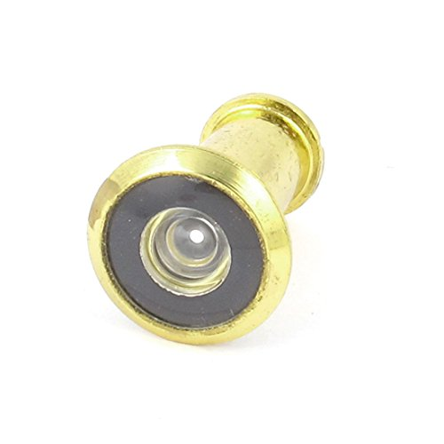 Sellify 200 Degree Wide Angle Door Viewer Peephole 35mm-52mm 14mm Dia Gold Tone