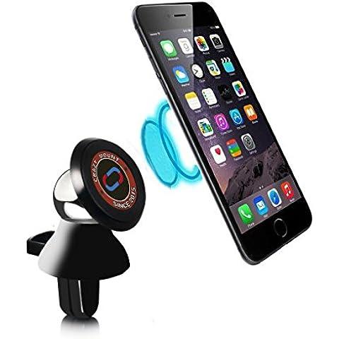 Nochoice® Universal Air Soporte para Rejilla de Ventilación De Coche Sostenedor 360 ° Compatible con iphone 6 6s plus Samsung s3 4 5 6 Note Galaxy GPS( Black )
