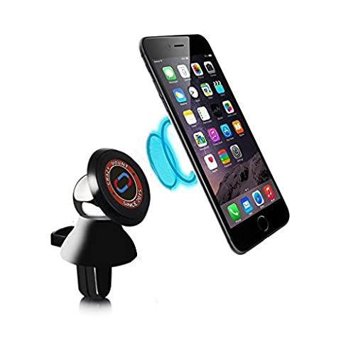 Nochoice Car Air Vent Mount Magnetic Car Mount Cradle for Iphone 6 / 6 plus / 5 / 5s / 5c / 4 / 4s Samsung Galaxy S6 / S5 / S4 / Note 4 / 3 and Sat Nav GPS Devices (Black)