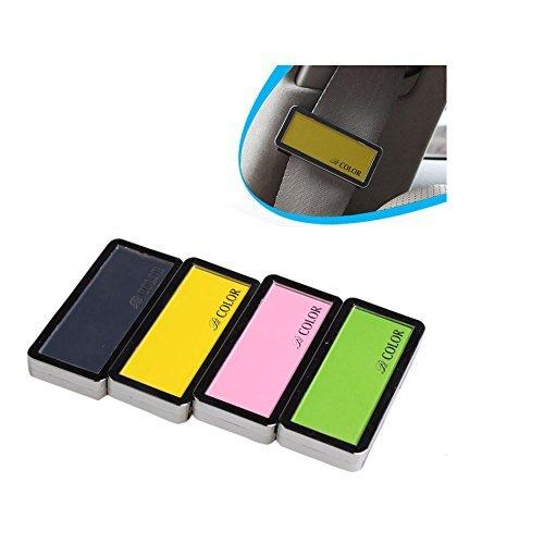 Silence Shopping 4pcs Premium Line voiture de sécurité de ceinture de sécurité clip bouchon pinces pour les moteurs de voiture Truck Bus Auto véhicule 6.5 * 3 * 1.5cm Pack de 2