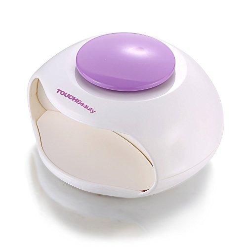 Touchbeauty asciuga unghie, portatile ad aria e luce led ottimo per smalto per unghie normale, formato mini, ventola potente
