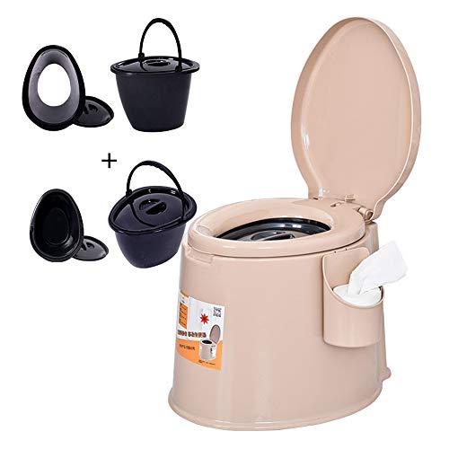 Tragbare Toilette, WC für Erwachsene, Outdoor-Indoor-Campingtoilette, Mobile Toilette Töpfchen -