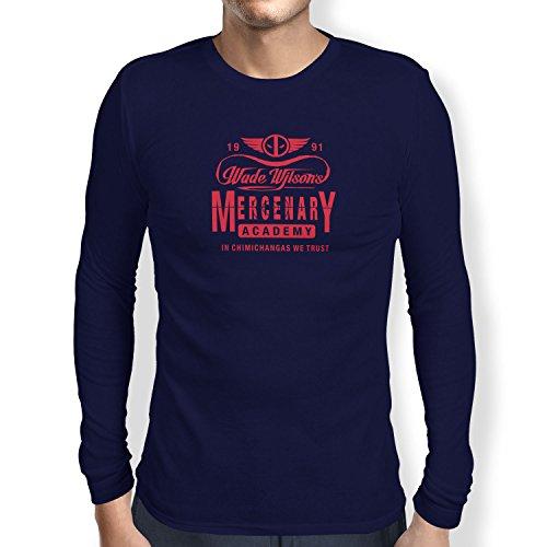 Mercenaries 2 Kostüme (TEXLAB - Wade Wilson's Mercenary Academy - Herren Langarm T-Shirt, Größe S,)
