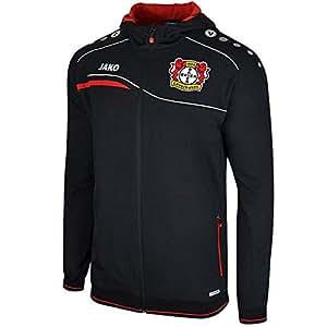 Jako Bayer 04 Leverkusen Einlaufjacke mit Kapuze schwarz-rot schwarz/rot, 4XL
