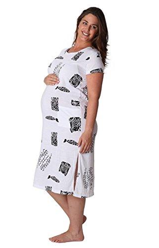 Ingear maternità Long Beach Tee Dress Bianco
