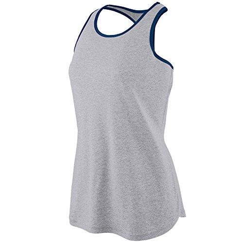 Augusta Sportswear Women'S Rave Henley S Athletic Heather/Navy Augusta Sportswear Henley