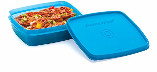 Signoraware Smart N Slim Plastic Lunch, 350ml, T Blue  available at amazon for Rs.130