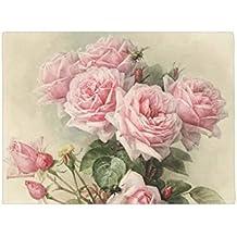Shabby Chic rosa rosas victoriano Felpudo antideslizante Funny alfombrilla de goma para puerta frontal Floor Mat 60x 40cm