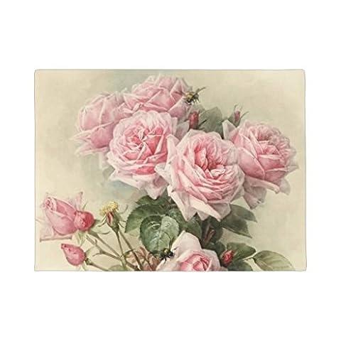 Style shabby chic Rose victorien roses Paillasson antidérapant Funny Porte en caoutchouc Tapis avant Tapis de sol 60x 40cm