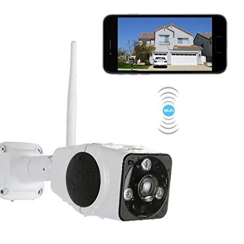 1080P HD FREDI Wlan IP Kamera Überwachungskamera Außen Kabellos Funkkamera Panorma Sicherheitskamera für Außen HD Überwachungskamera /HD IP cam mit LAN & Wlan / Wifi für Outdoor Wasserdicht