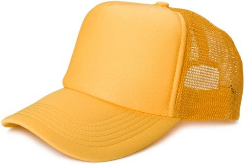 styleBREAKER 5 Panel Mesh Cap 04023007 (Goldgelb) Panel-mesh-cap