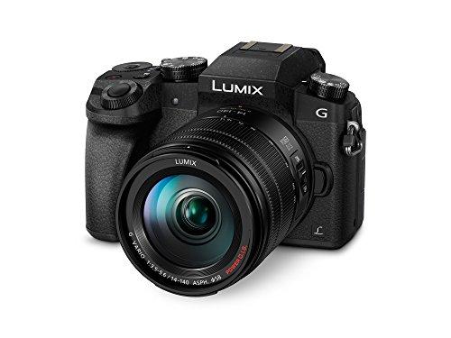"Panasonic Lumix G7H - Cámara EVIL de 16 MP, Pantalla 3"", Grabación de Vídeo en 4K, Wi-Fi, RAW, Cuerpo Ergonómico, Kit con Objetivo Lumix Vario 14 - 140 mm/F3.5-5.6"