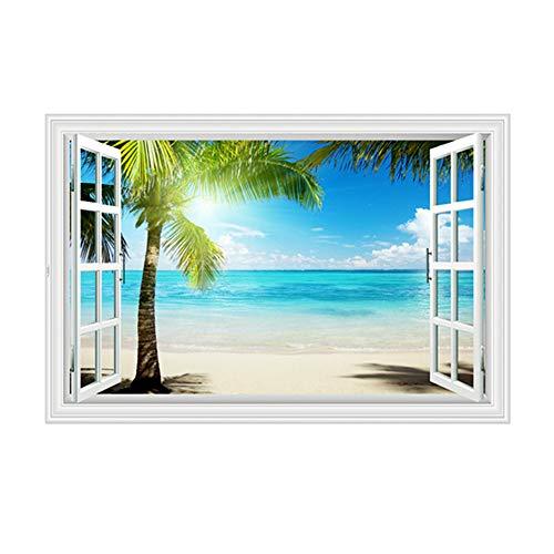 YJZ 3D Gefälschte Fenster Wandaufkleber Dekoration Home Office Shop Gefälschte Windows Decals Decor Peel Stick Wandaufkleber Fenster,E