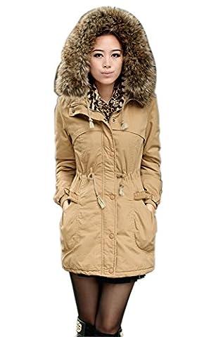 VADOOLL Ladies Fleece Parka Winter Warm Faux Fur Jacket Hoodie Coat Overcoat Top