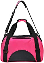 Mascota bolso ventilacion para gato- perro cómodo bolso viaje , Bandolera bolso de hombro - bolso Oxford Bolsa impermeable (rosa)