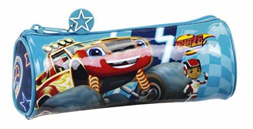 Blaze And The Monster Machine Blaze Estuche portatodo Redondo, Color Azul, 20 cm (SAFTA 811704026)