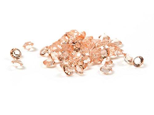 Glasmedaillon Einleger Diamant in lachs 300 Stück von Vintageparts DIY Schmuck Glasmedaillon floating charm Floating Charm Schmuck