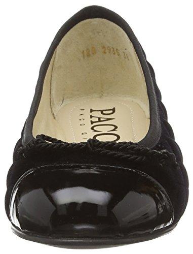 Paco Gil P2935 Damen Durchgängies Plateau Ballerinas Schwarz (Black)