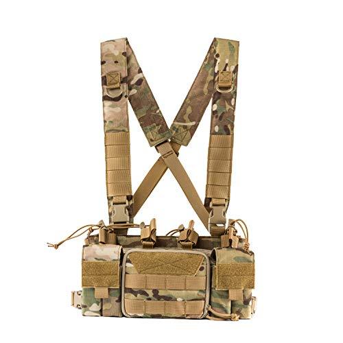 OneTigris Chest Rig MOLLE Taktische Funktionsweste |MEHRWEG Verpackung (Camo)