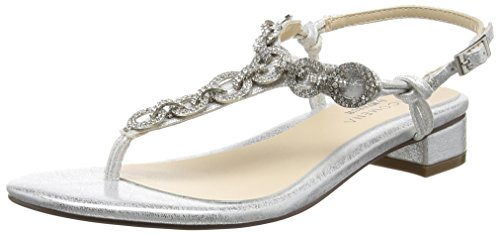 Paco Mena Primula, Tongs femme Argent - Silber (Silber)