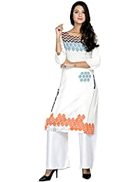 Kurti With Palazzo For Women (Latest Low Price Designer Party Wear Cotton Printed Kurtis And Palazzo For Women...