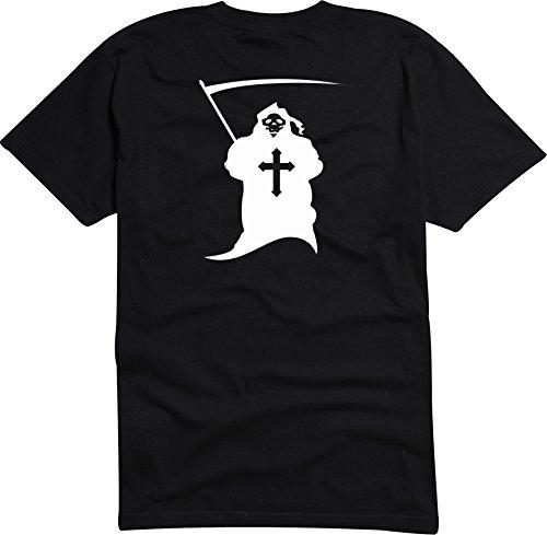 Black Dragon - T-Shirt Herren - JDM / Die cut - Sensenmann Totenkopf Skull Comic Tod Death Grusel Schwarz