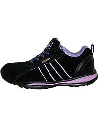 Ottawa - Zapatos de seguridad para mujer, acero en la punta de los dedos, con cordones, ligeras