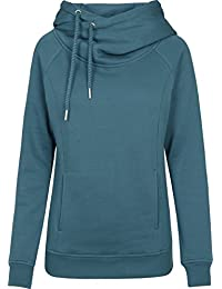 Urban Classics Damen Kapuzenpullover Ladies Raglan High Neck Hoody