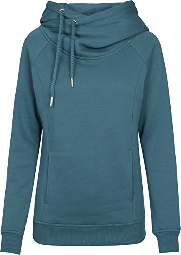 Ladies Raglan High Neck Hoody Kapuzenpullover, Grün (Teal 1143), Medium ()