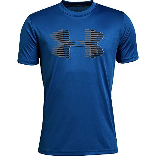 Solid Tech T-shirt (Under Armour Jungen Tech Big Logo Solid Tee Kurzarmshirt, Blau, YSM)