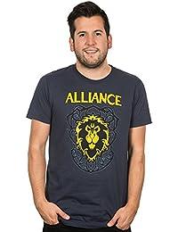 World of Warcraft Alliance Crest Premium Tee Shirt Navy Men's Large