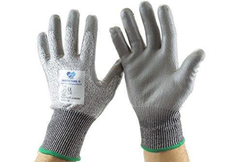 Preisvergleich Produktbild Arbeitshandschuh - Schnittschutzhandschuh - Handschuh - Cupropa Größe 9 - grau