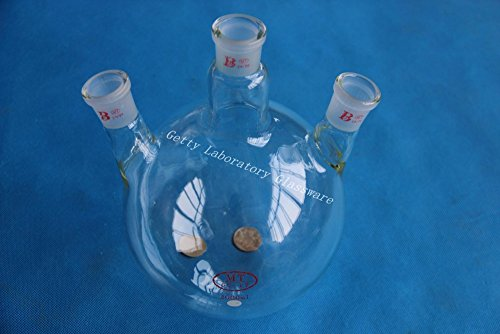 2000ml (2L) 3-neck (three-neck) rund Boden Kochen Fläschchen, 24/29Gelenk, schwere Wand (Pyrex Glas) (Wand-gläser Schwere)
