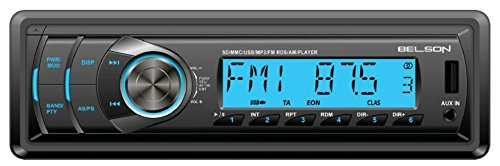 Belson BS-1502 - Autorradio MP3, FM/AM sin mecánica CD con lector USB y SD, negro