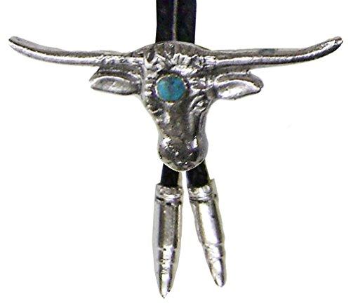 modestone-bolo-longhorn-bull-head-aqua-like-stone-silver-bullets-o-s-silver