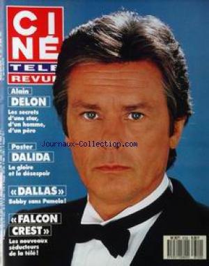 CINE TELE REVUE [No 20] du 14/05/1987 - ALAIN DELON - DALIDA - DALLAS - BOBBY SANS PAMELA - FALCO CREST.
