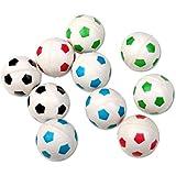S/O® 10er Pack Flummis Fußball Design 27mm Flummis Springball Hüpfball Mitgebsel Tombola Kindergeburtstag