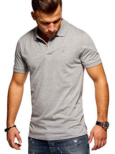JACK & JONES Herren Poloshirt Polohemd Shirt Basic (XX-Large, Light Grey Melange)