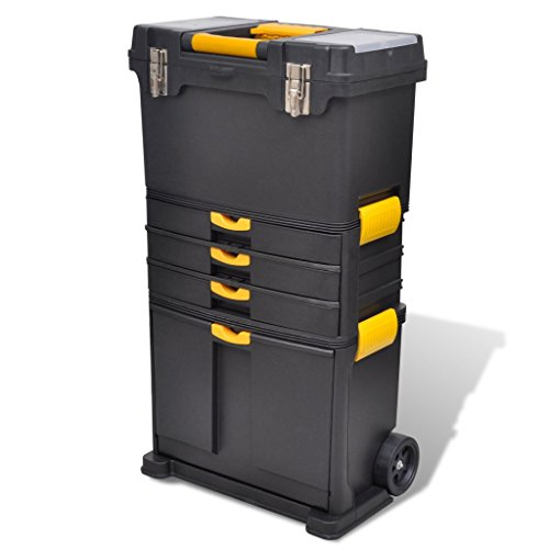 Festnight Werkzeugkoffer Tragbare Werkzeugkoffer Trolley Werkzeugaufbewahrung